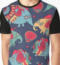 elephants and roses - fashion style Graphic T-Shirt