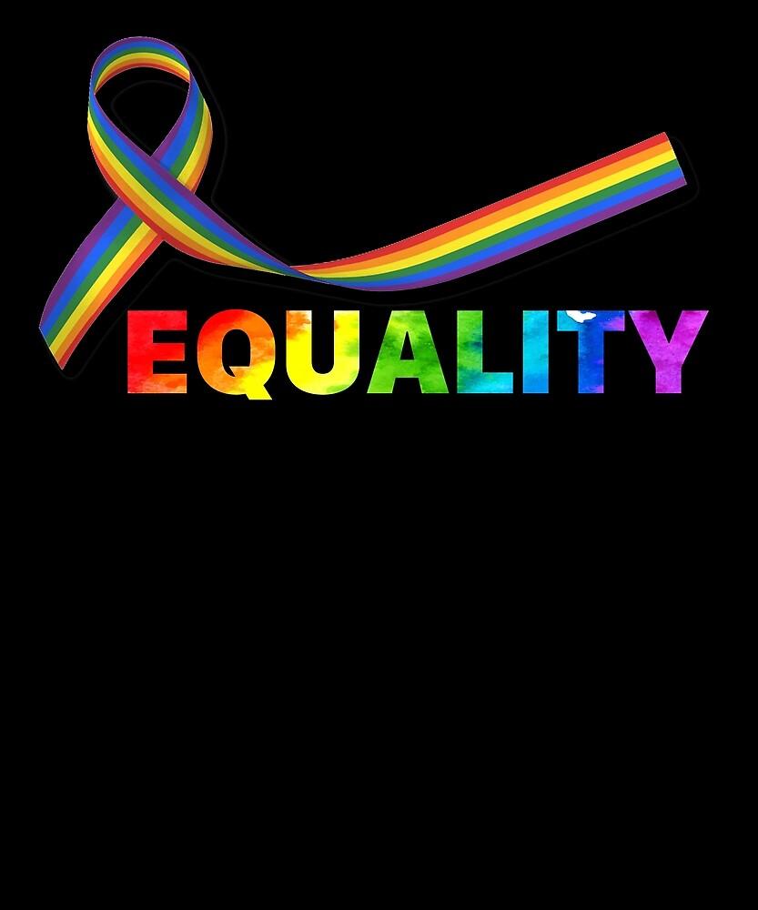 LGBT Equality Rainbow T Shirt Gay Shirt by sondinh