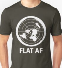 Flat AF Flat Earth Society  Unisex T-Shirt