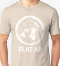 Flat AF Flat Earth Society  Unisex T-Shirt