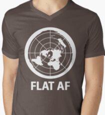 Flat AF Flat Earth Society  Men's V-Neck T-Shirt