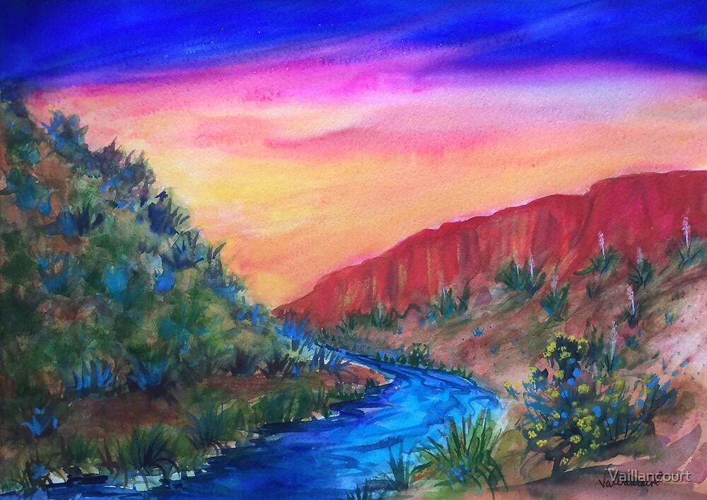 Rio Grande View by Vaillancourt
