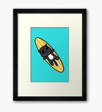 Surfer Cat Framed Print