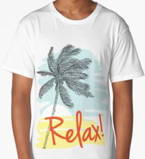Relax! Retro 80s Vacation Style Long T-Shirt
