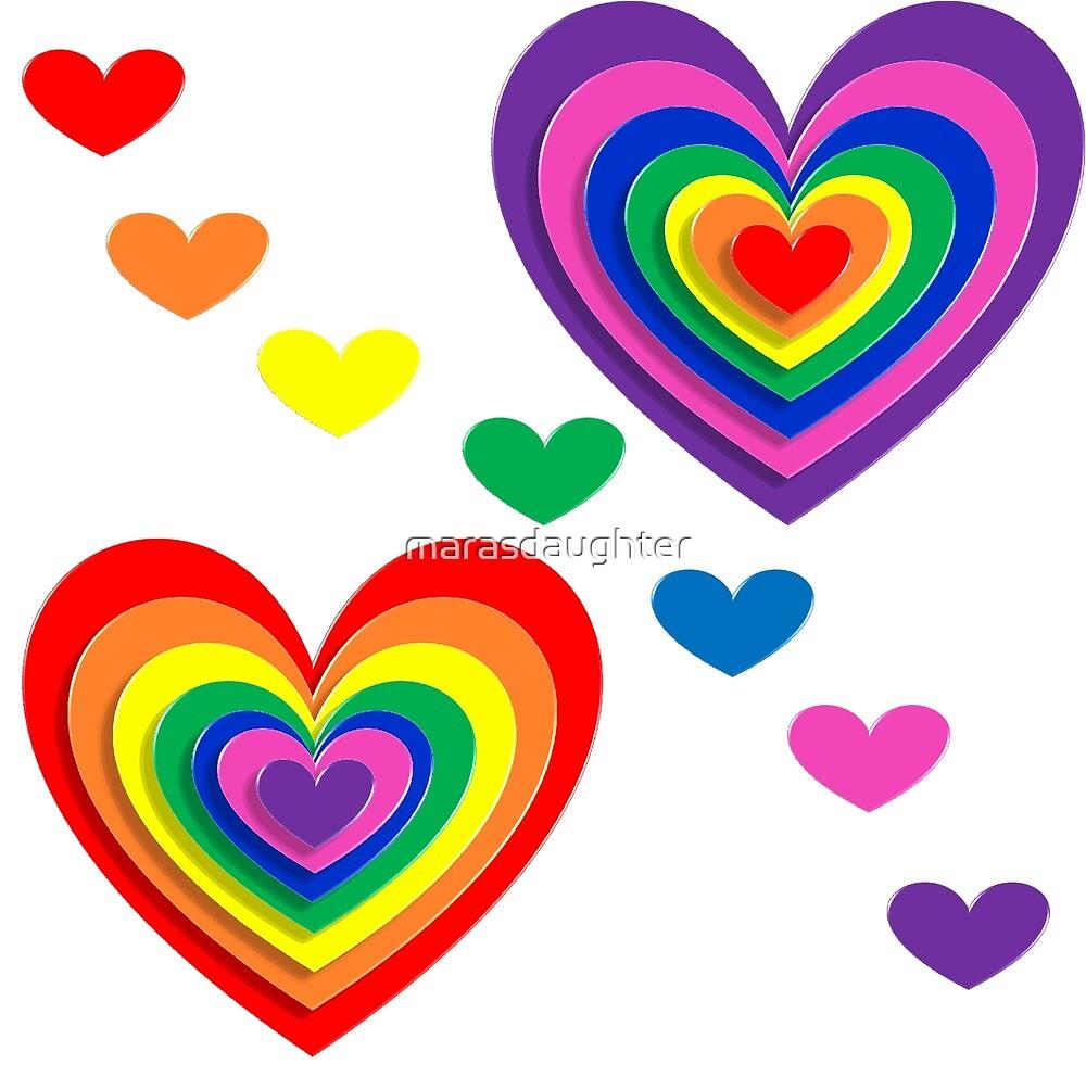 pride hearts by marasdaughter