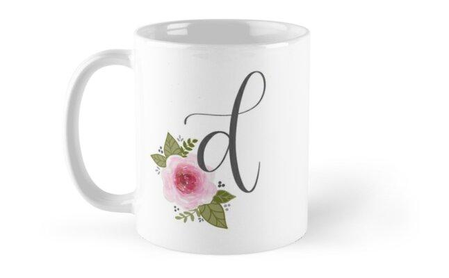 Floral Monogram d by ktscanvases