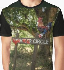 Rooster Circle Graphic T-Shirt