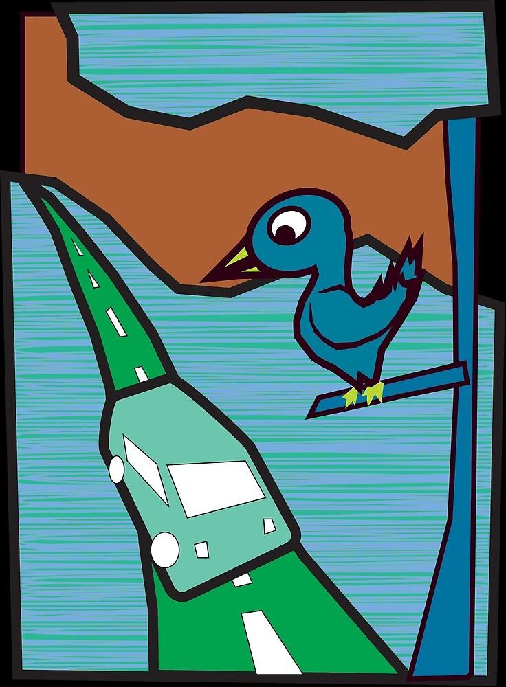 Bird Tree 001 by djzombie
