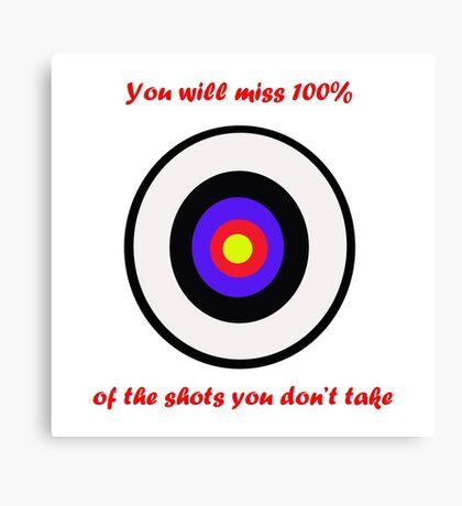 100% of shots Canvas Print
