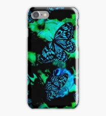 On the wings of blue butterflies iPhone Case/Skin