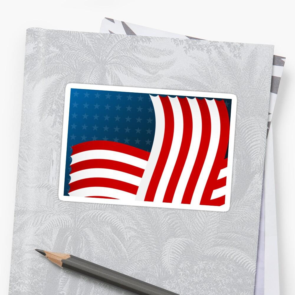 Stylized USA flag by archiba
