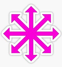 Chaos star - Pink Sticker