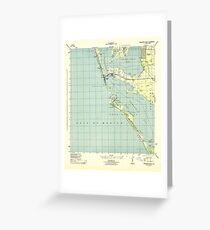USGS TOPO Map Florida FL Bradenton Beach 345276 1944 31680 Greeting Card