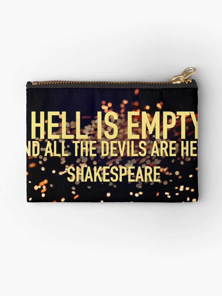 HELL IS EMPTY- Shakespeare by Minivillage