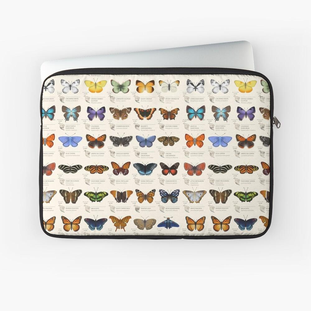 Butterflies of North America Laptop Sleeve