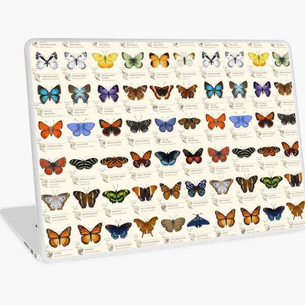 Butterflies of North America Laptop Skin