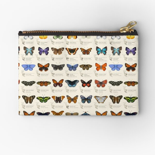 Butterflies of North America Zipper Pouch