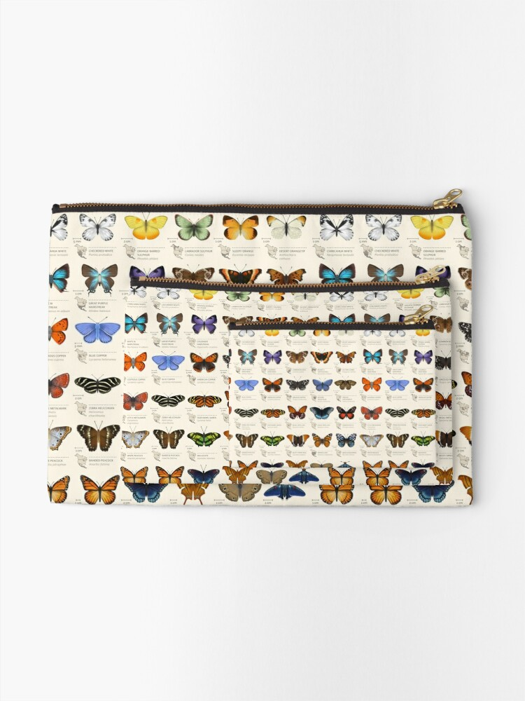 Alternate view of Butterflies of North America Zipper Pouch