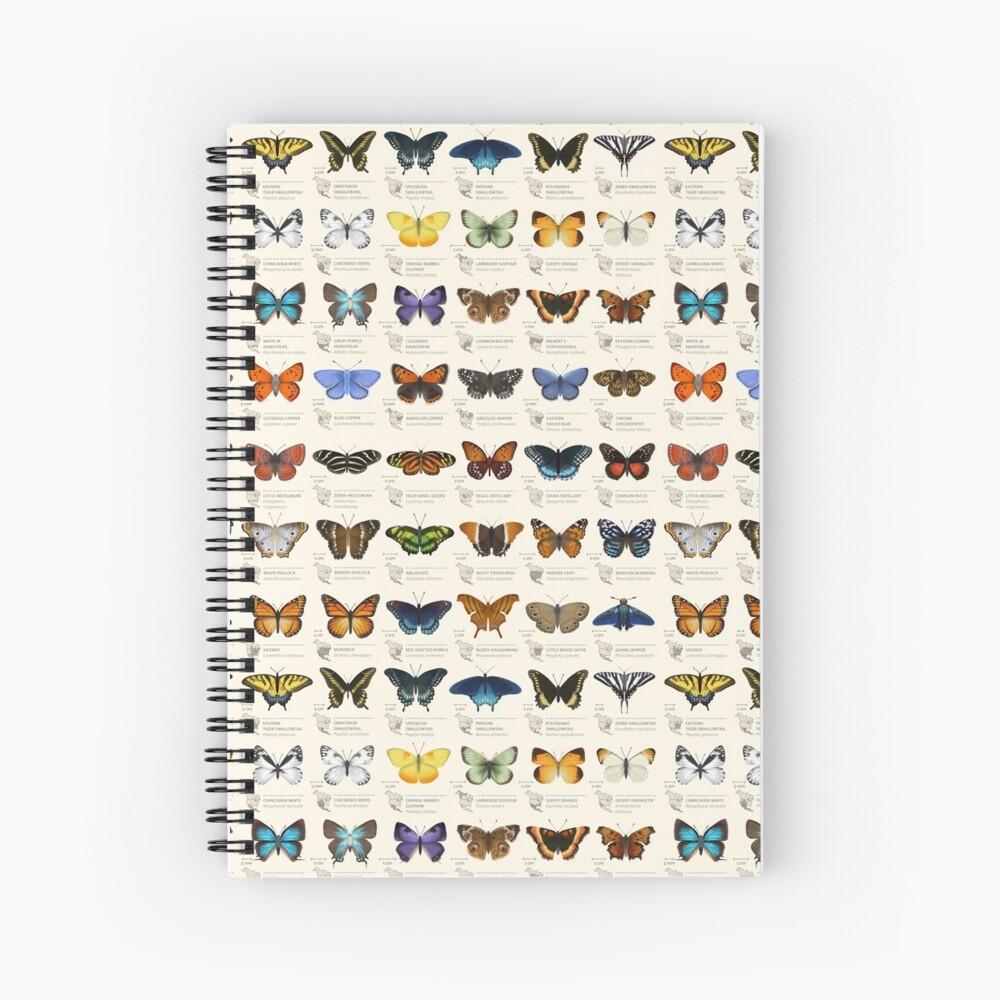 Butterflies of North America Spiral Notebook