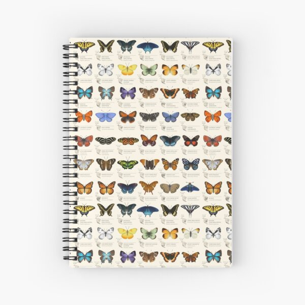 Butterflies of North America Spiral Notebook