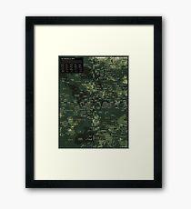 Goddesses of Venus: A topographic Map Framed Print