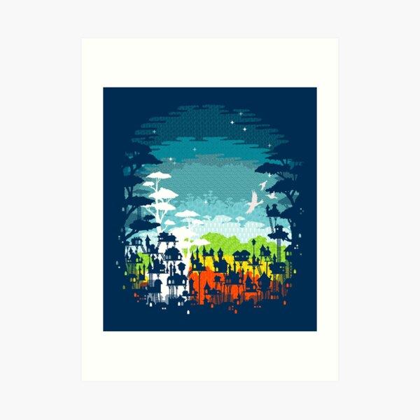 Rainforest City Art Print