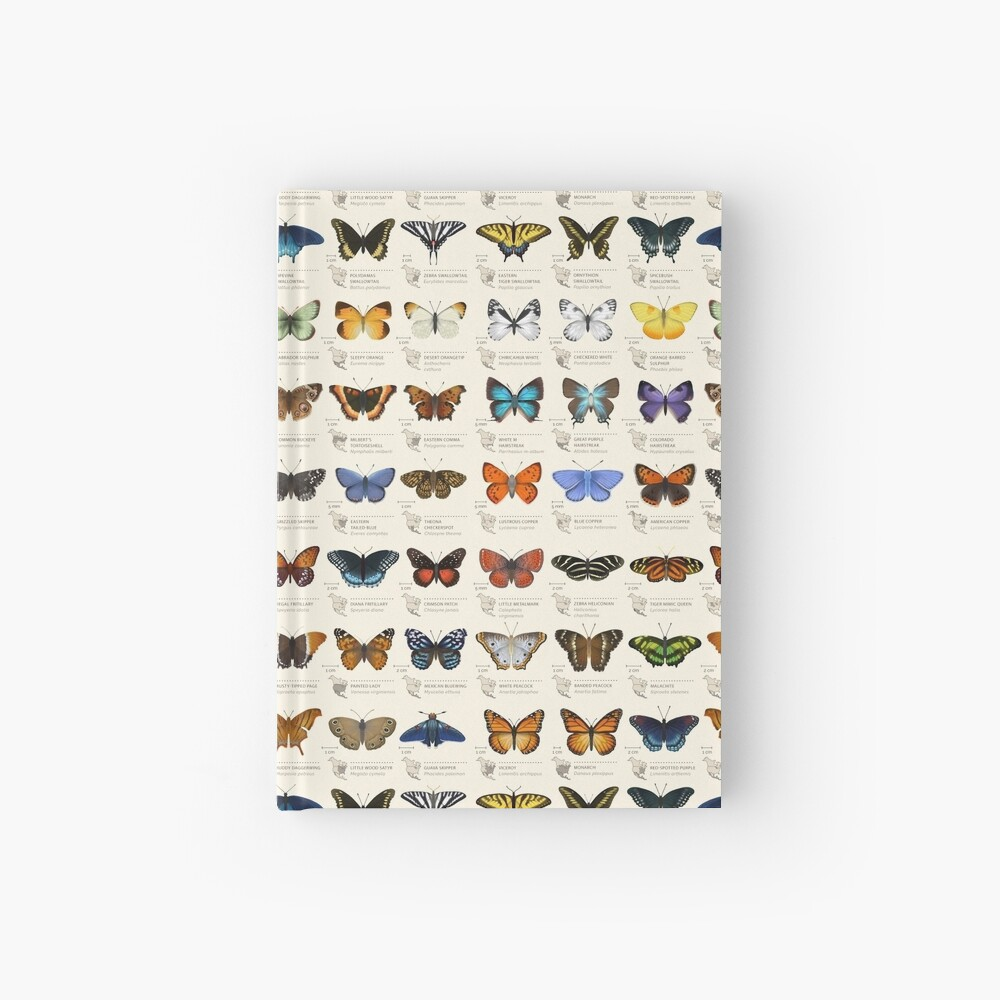 Butterflies of North America Hardcover Journal