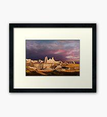 Sunrise over Badlands Castle Trail .2 Framed Print