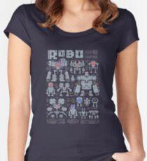 Robo Pixels Women's Fitted Scoop T-Shirt