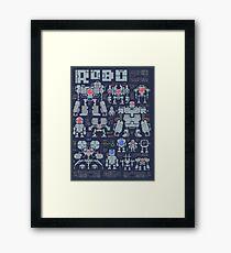 Robo Pixels Framed Print
