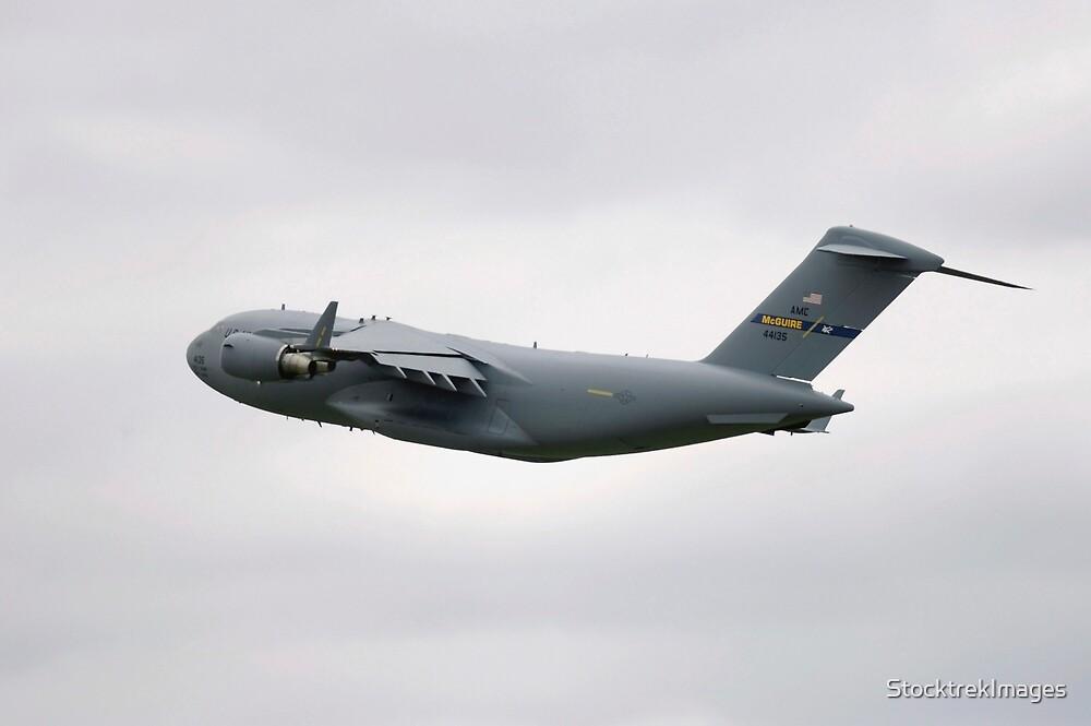 A C-17 Globemaster III in flight. by StocktrekImages