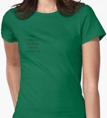 Kjærlighet - Skam Womens Fitted T-Shirt