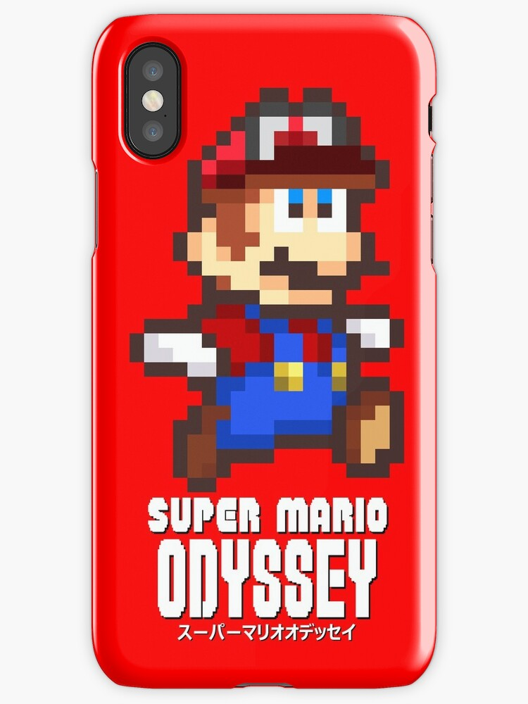 """Fabuleux Super Mario Odyssey - Pixel Art!"""" iPhone Cases & Skins by  YE02"""