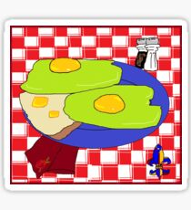 Green Eggs and toast Sticker