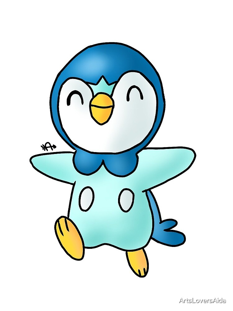 happy piplup jumping by ArtsLoversAida