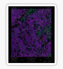 USGS TOPO Map Georgia GA Ben Hill 245029 1954 24000 Inverted Sticker