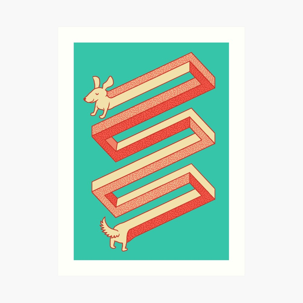 Physics doesn't apply to weiner dogs Art Print