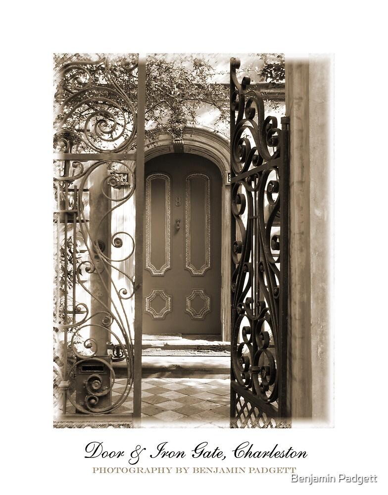 Charleston Door & Iron Gate in Sepia by Benjamin Padgett