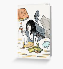 Pulp Fiction Sketch Greeting Card