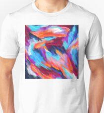 Bright Abstract Brushstrokes Unisex T-Shirt
