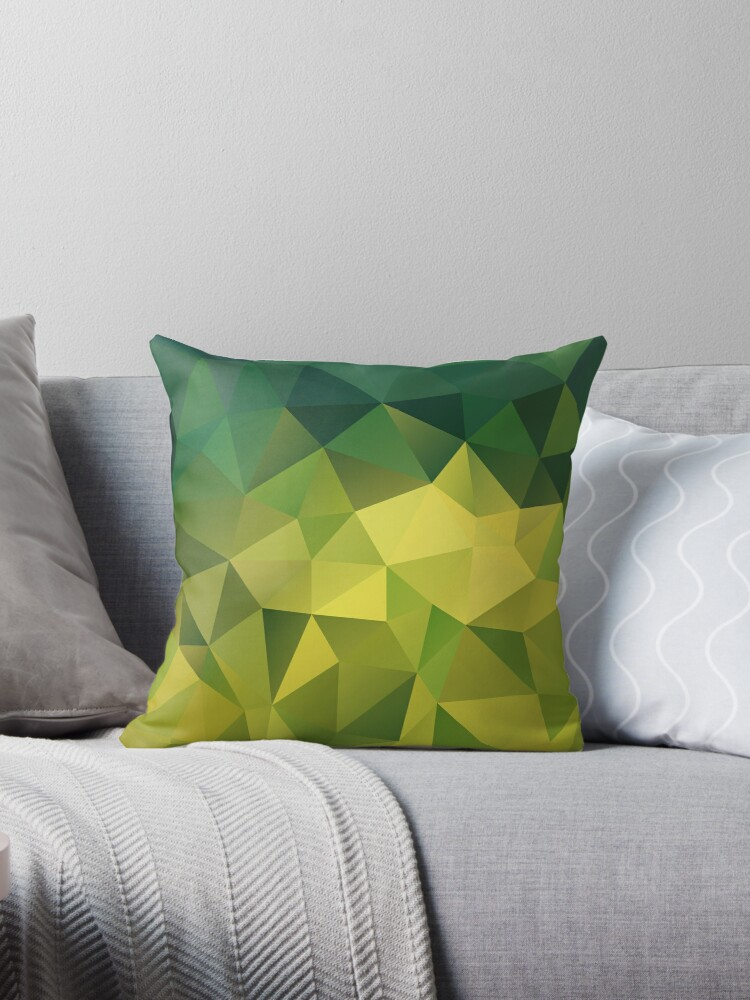 Abstract background of triangles polygon wallpaper in green yellow lime colors by fuzzyfox