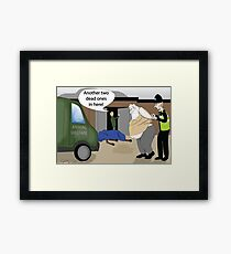 Trouble at the grotto Framed Print