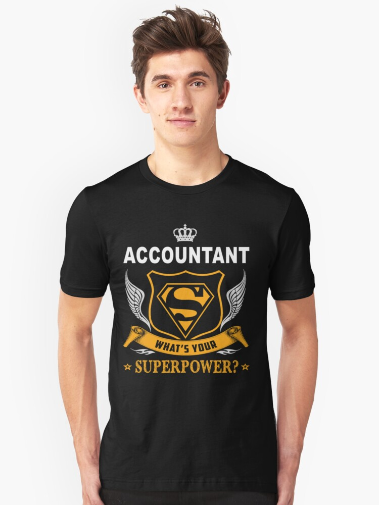 ACCOUNTANT SUPER POWER WING Unisex T-Shirt Front