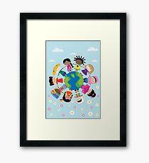 Happy Meitlis - Around the World Framed Print