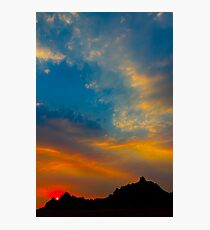 Sunset over Badlands National Park .7 Photographic Print