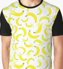 Banana Background Painted Pattern Graphic T-Shirt