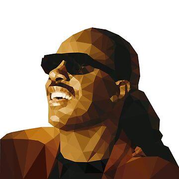 Low Poly Stevie Wonder by baba-ganoush