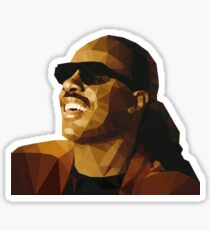 Low Poly Stevie Wonder Sticker