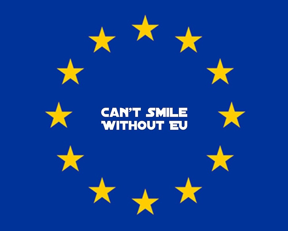 Can't smile without EU by MworldTee