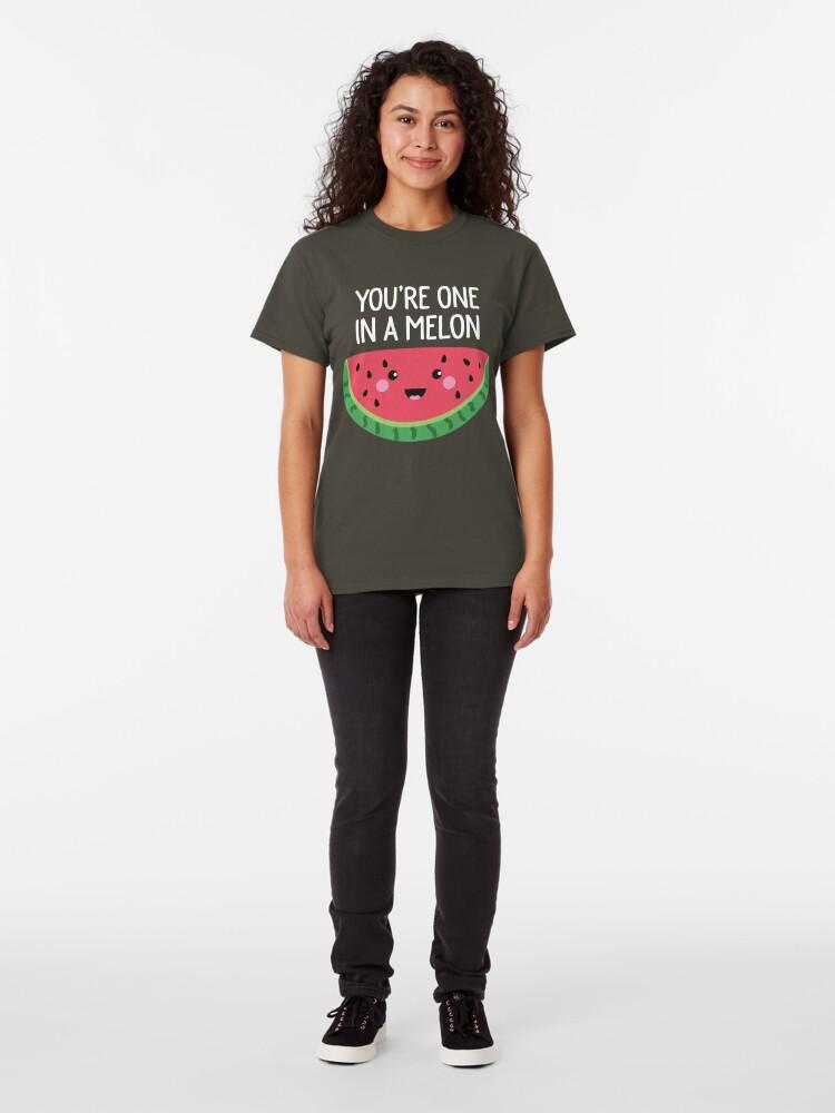 Alternative Ansicht von Du bist eins in einer Melone Cute Watermelon Fruit Wortspiel Classic T-Shirt
